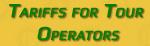Tariffs for tour operators