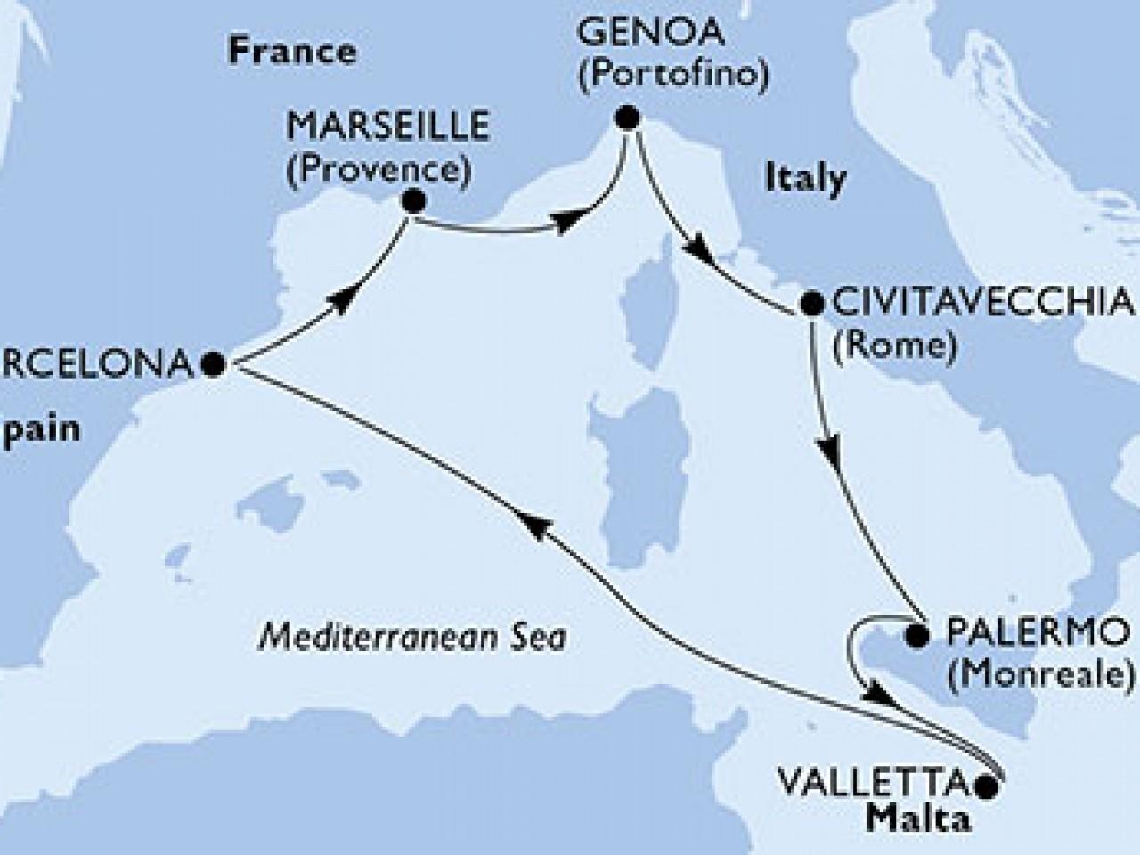 Crociera Mediterraneo occidentale